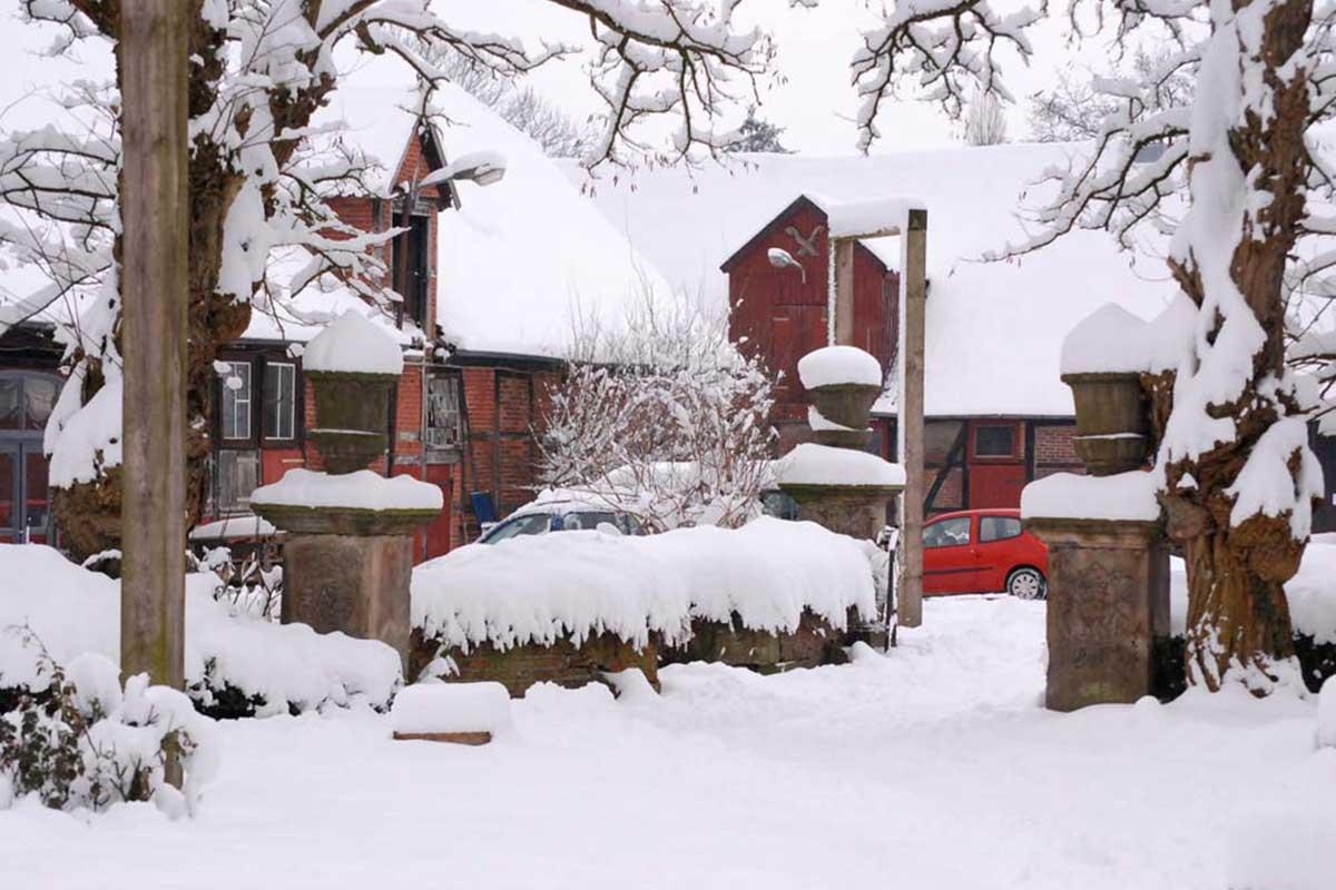 Fachwerkromantik im Schnee